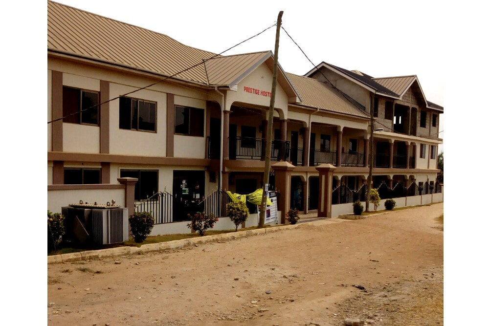 prestige hostel front