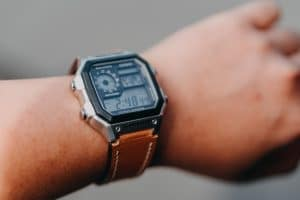 wristwatch on the hand for students